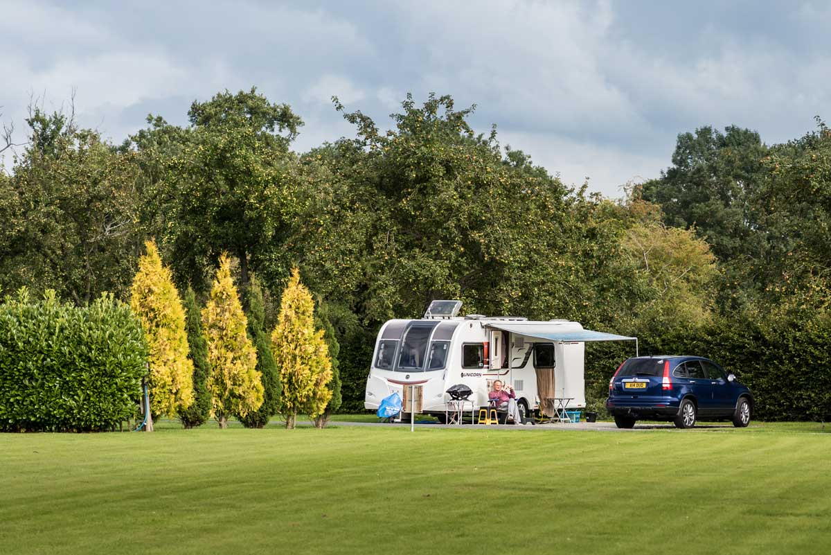 Touring caravans, motorhomes and camping in Ludlow.